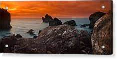Patrick's Point Dusk Panorama Acrylic Print by Greg Nyquist