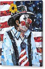 Patriotic Clown Acrylic Print by Suzy Pal Powell