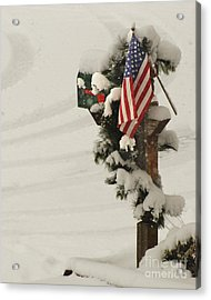 Patriotic Holiday Mailbox Acrylic Print