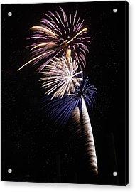 Patriotic Pyrotechnics Acrylic Print by Sandi Blood