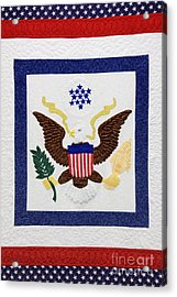 Patriotic Quilt Acrylic Print by Jeremy Woodhouse