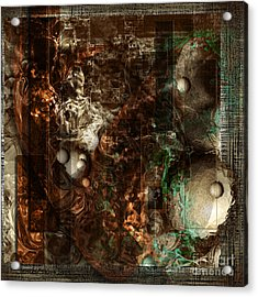 Pattern Down - Brown Acrylic Print by Monroe Snook