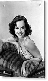 Paulette Goddard With Fur Coat Acrylic Print by Everett