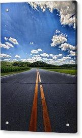 Pavement Approach Acrylic Print by Bill Tiepelman
