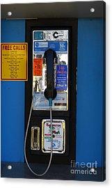 Pay Phone . 7d15934 Acrylic Print