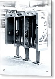 Pay Phones - Still In Nyc Acrylic Print