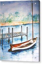 Pea Pod Boat Acrylic Print