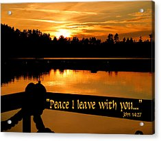 Peace I Leave With You Acrylic Print by Cindy Wright