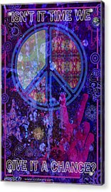 Peace Acrylic Print by John Goldacker