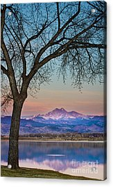 Peaceful Early Morning Sunrise Longs Peak View Acrylic Print by James BO  Insogna