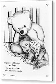 Peaceful Sleep Acrylic Print by Joyce Geleynse