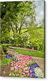Peaceful Spring Park Acrylic Print