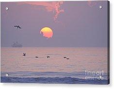 Peaceful Sunrise Acrylic Print by Clint Day