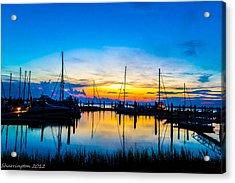 Peacefull Sunset Acrylic Print by Shannon Harrington