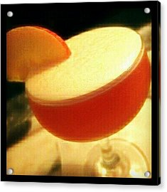 Peach Passion Punch. #cocktails Acrylic Print