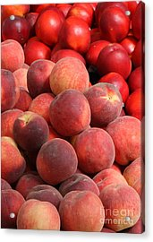 Peaches And Nectarines Acrylic Print by Carol Groenen