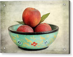 Peaches Acrylic Print by Darren Fisher