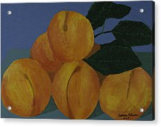 Acrylic Print featuring the painting Peaches by Esther Olson