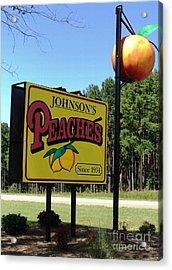 Peaches Acrylic Print by Jennifer Kelly
