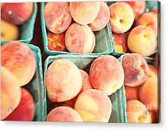 Peaches Acrylic Print by Kim Fearheiley