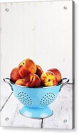 Peaches Acrylic Print by Stephanie Frey