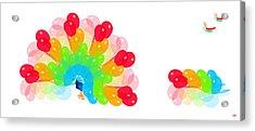 Peacock Balloon Acrylic Print by Victoria Regueira