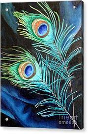 Peacock Beauties Acrylic Print