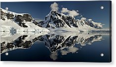 Peaks Along  Neumayer Channel Acrylic Print by Colin Monteath