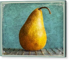 Pear Acrylic Print by Cathie Tyler