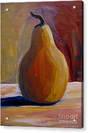 Acrylic Print featuring the painting Pear  by Gretchen Allen