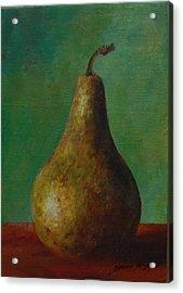 Pear I Acrylic Print by Gonca Yengin