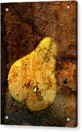 Pear In Stone Acrylic Print