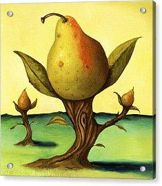 Pear Trees 2 Acrylic Print by Leah Saulnier The Painting Maniac