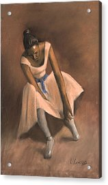 Pearl Joy Acrylic Print by L Cooper