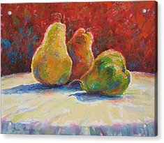 Acrylic Print featuring the painting Pears by Bonnie Goedecke