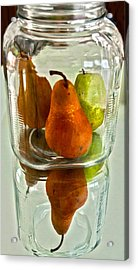 Pears In A Jar Acrylic Print