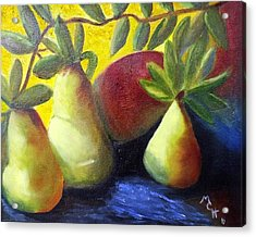 Pears In Sunshine Acrylic Print