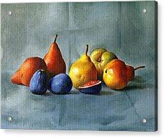 Pears Acrylic Print by Tatyana Holodnova