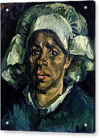 Peasant Woman Acrylic Print by Vincent van Gogh