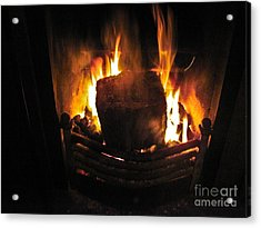 Peat Fire Acrylic Print by Black Sun Forge