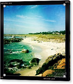 Acrylic Print featuring the photograph Pebble Beach by Nina Prommer