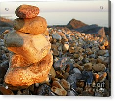 Pebbles Acrylic Print by Spice