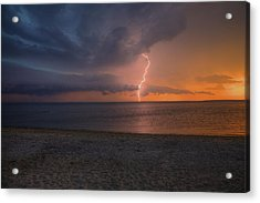 Peconic Bay Lightening Acrylic Print