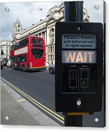 Pedestrian Traffic Controls On The Side Acrylic Print by Marlene Ford