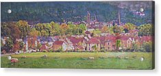 Acrylic Print featuring the painting Peebles Vista by Richard James Digance