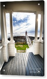 Peek Out To Sea Acrylic Print by George Oze
