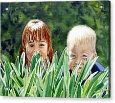 Peekaboo Acrylic Print by Irina Sztukowski