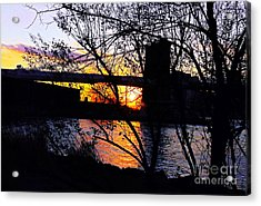 Peeking At The Bridge Acrylic Print by Kendall Eutemey
