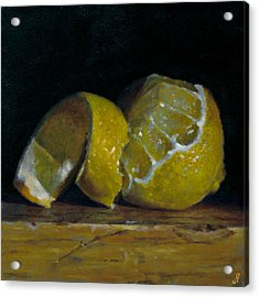 Peeled Lemon Acrylic Print by Jeffrey Hayes