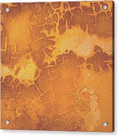 Peeling Ochre Wall Acrylic Print